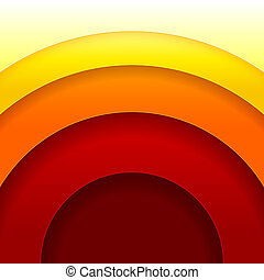 Abstract red and orange circles vector background