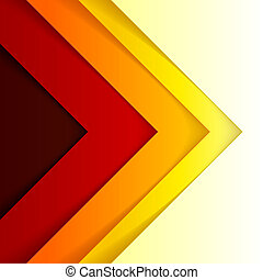 Abstract red and orange triangle shapes background