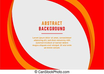 Abstract red and yellow curved lines presentation background