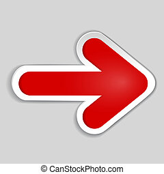 Abstract red arrow - to design, infographics. vector...
