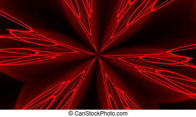 Abstract red background. Digital kaleidoscope. 3d rendering....