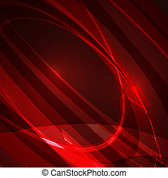 Abstract red background, futuristic style illustration