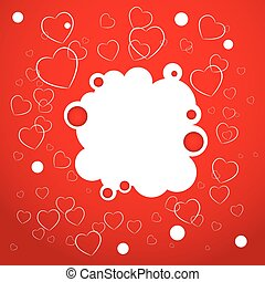 Abstract red background. Heart. Valentines day card. vector