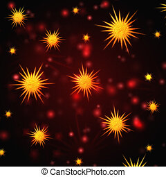 abstract red background with christmas stars