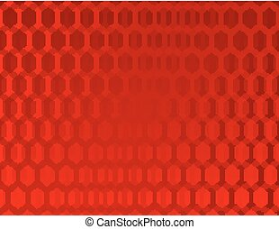 Abstract red background with hexago
