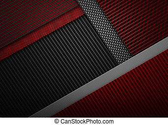 Abstract red black carbon fiber textured material design -...