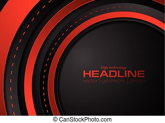 Abstract red black tech corporate background