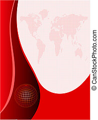 Abstract Red Business Background