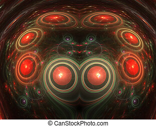 Abstract red buttons circle