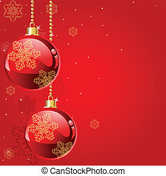Abstract red Christmas