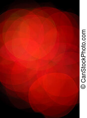 Abstract Red Christmas Bulbs