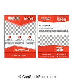 Abstract Red Color Flyer Design Template