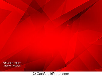 Abstract red color geometric vector background with copy space eps10