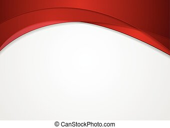 Abstract red corporate wavy background