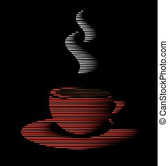 abstract red cup of tea