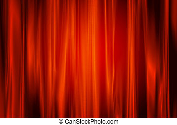 Abstract red curve background.