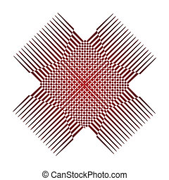 Abstract red design logo