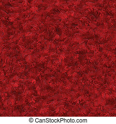 Abstract red feathers - Seamless pattern tile of textured ...