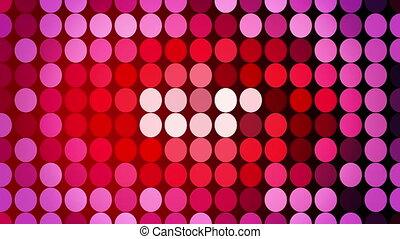 Abstract red flashing circles