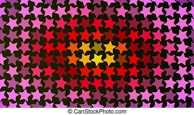 Abstract red flashing stars