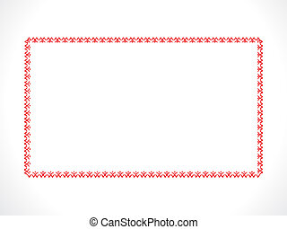 abstract red floral border