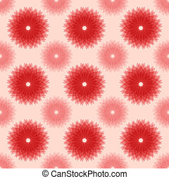 Abstract red floral seamless pattern
