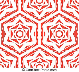 Abstract Red Flower Pattern