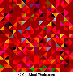 Abstract Red Geometric Color Background