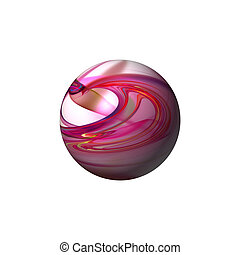 Abstract Red Globe