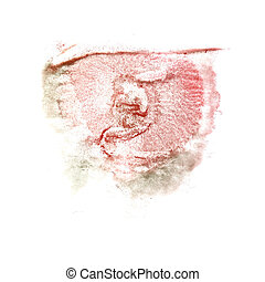 abstract Red, grey drawing stroke ink watercolor brush water col