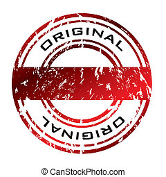 Abstract red grunge office rubber stamp