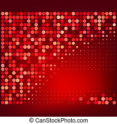 Abstract Red Halftone Background