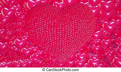 Abstract red Hearts