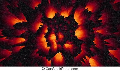 Abstract red-hot lava magma background, dark matter, way to hell