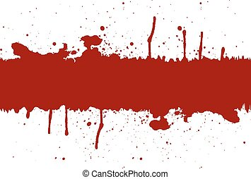 Abstract red ink splatter background element with a space.illustration vector