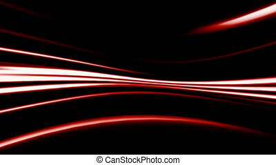 Abstract red line on black background