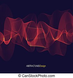 Abstract red Lines Design. Violet background