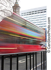 abstract red london bus