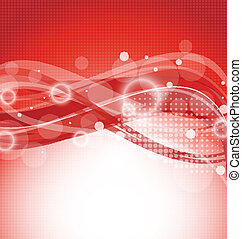 Abstract red magic wavy background