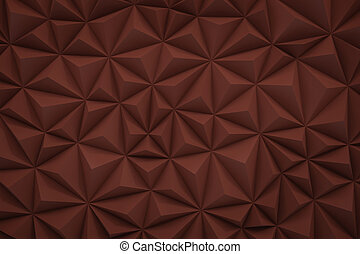 Abstract red marsala low poly background with copy space 3d render