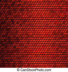 Abstract Red mosaic Tiles. Colorful Vector Background
