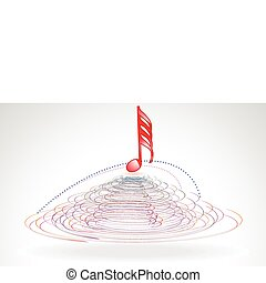 abstract red musical word