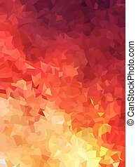 abstract red of fire color triangles background