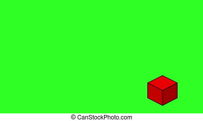 Abstract red optical illusion.