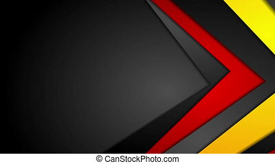 Abstract red, orange and black corporate video animation