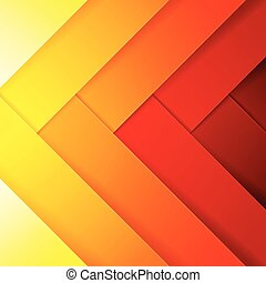 Abstract red, orange and yellow crossing rectangle shapes ...