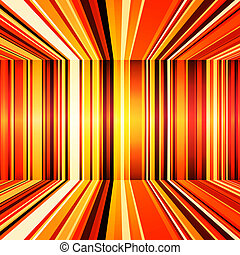 Abstract red, orange and yellow retro stripes