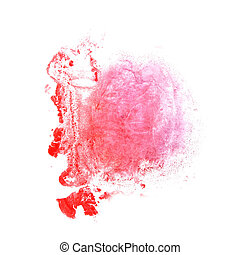 abstract Red, pink drawing stroke ink watercolor brush water col