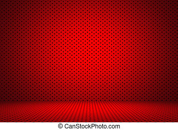 Abstract Red Polka dots background Christmas Valentines layout design, studio, room, web template ,Bussiness report with smooth circle gradient color.
