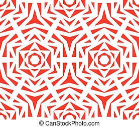 Abstract Red Rose Pattern